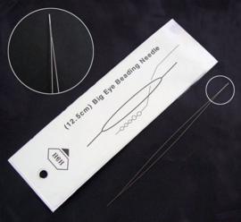 1 stuks rijgnaald met zeer groot gat split-eye voor o.a. rocailles 125 x 0,3mm