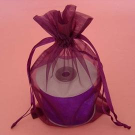 1 x luxe organza zakje, kies uit 6 verschillende maten - Purple