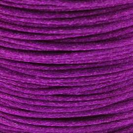 2 meter Macrame Satijndraad 1.0 Purple
