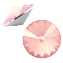 2 x Rivoli 1122 - 12 mm puntsteen Pale pink opal