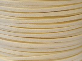 Faux suède veter,  ivory , 1 meter x 3mm