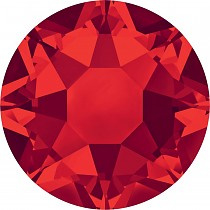 Swarovski rood plat strass steentje 7mm