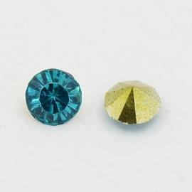15 stuks Puntsteen Resin kunsthars SS12 c.a. 3,5mm Turquoise
