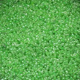 Per 20 gram Rocailles 12/0 groen  Luminous inside