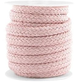20cm Divino koord Vintage roze  ca. 8x10mm