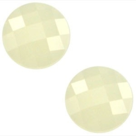 2 x Basic cabochon 10mm Light jonquil geel opal