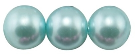 50 x prachtige glasparel kleur: Light Cyan 4mm