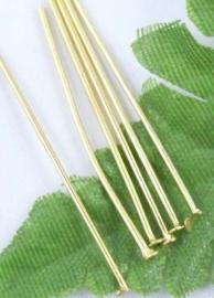 100 stuks goudkleurige nietstiften 30 mm x 0,8mm