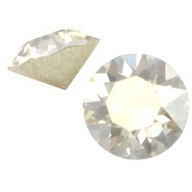 2 x Swarovski Elements PP32 puntsteen (4.0mm) Crystal silver shade