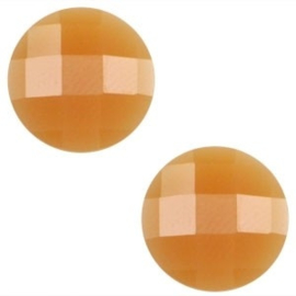 2 x Basic cabochon 10mm Soft topaz opal