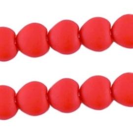 10 stuks Acryl kralen hart 10mm diep rood