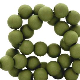 30 x  8 mm acryl kralen Moss green