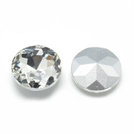 5  x cabochon puntsteen rivoli kristal transparant 14 x 6,5mm
