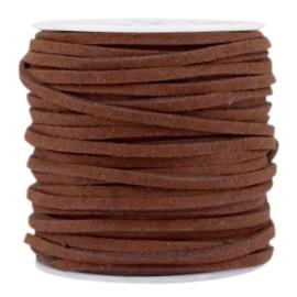 3 meter Imi suède 3mm Walnut brown