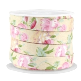 20 cm Trendy plat koord 10mm Beige - rose