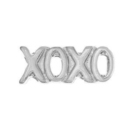 2 x Floating Charms XoXo Antiek Zilver 11x4 mm