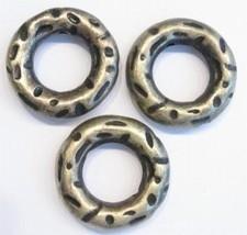 6 x  antiek geel koper ronde kunststof boei-ring 30 mm