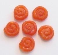 10 Stuks Glaskraal slakkenhuis mat oranje 12 mm