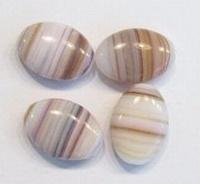 10 stuks Glaskraal plat ovaal l.beige/bruin gemeleerd 14 mm