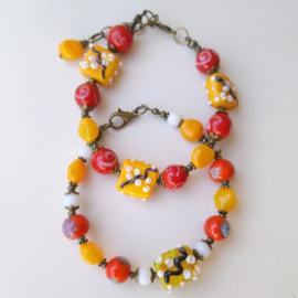Armbanden gemaakt met handgemaakte glaskralen ♥