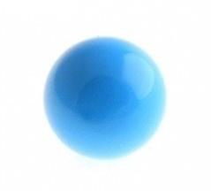 Klankbolletje 16mm voor een Engelenroeper  turquoise