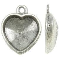 Houder V: Prachtige Camée of Cabochon houder hart vorm binnenzijde: 14 x 15mm
