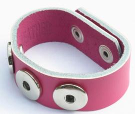 armband donker roze 24 cm