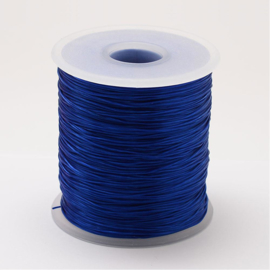 5 meter rond elastisch draad 0,2mm blue