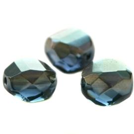 10 Stuks DQ 2 Way top cut 8 mm facet kraal Montana Grijs Blauw DB (montana grijs blauw diamond boreale)