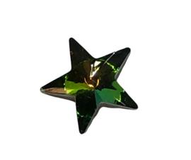 2x Precosia punt Kristal Ster Groen 10 mm