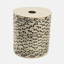 20 cm  DQ Koord gestikt imitatie PU leer 6X4mm grijs zwart snake skin goede kwaliteit!