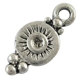 10 stuks tibetaans zilveren bedeltjes 7 x 16 x 1,5mm Gat 1,5mm