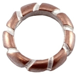 Champagne rose Europees DQ metalen ring 16 x 11 mm