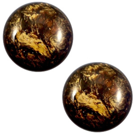1 x 12 mm classic cabochon Polaris Elements Stardust Dark smoke topaz