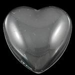 Glas cabochon hart 25 x 25 x 6mm Let op, lees de omschrijving
