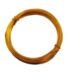Aluminium draad 1mm dik, 10m/rol Golden rot