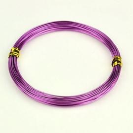 Aluminium draad 1,5mm dik, 6m/rol lila