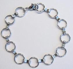 Prachtige basis armband om bedels aan te bevestigen 22cm,  Platinum