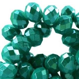 20 x Topfacet 6x4 mm Teal Green Diamond Coated