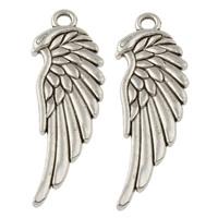 2 x Schitterende hanger  engelen vleugel 11 x 33 x 2mm Oogje: 2mm