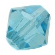 10 x Preciosa Kristal Bicone 6mm Aquamarine