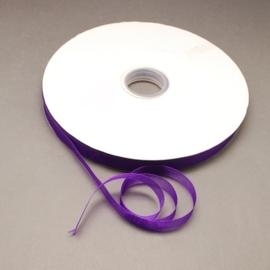1 meter Organza lint 10mm breed per meter, leuk voor zeepkettingen!! Paars