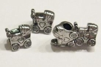 Per stuk Metalen European Jewelry kraal Kinderwagen 11 x 13 mm