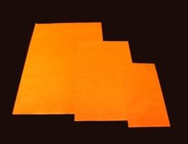 10 x Fourniturenzakje kraft oranje onbedrukt 15 x 22cm nr. 3