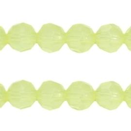 20 stuks Acryl facet kralen rond 8 mm Geel groen opaal