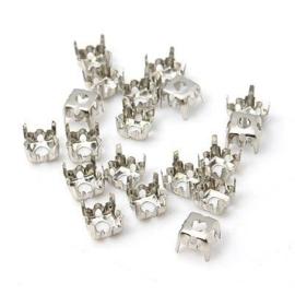 Houder Z1: kastje voor puntsteen 2/3mm platinum 3x4mm 25 stuks