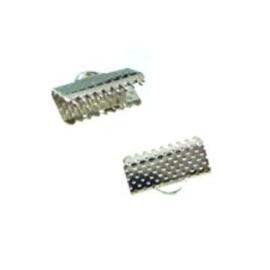 5x Veter Lint Klemmetje 10mm zilverkleur
