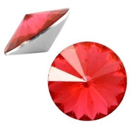 2 x Rivoli 1122 - 12 mm puntsteen Paparacha roze