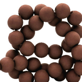 30 x 8 mm acryl kralen Hickory brown