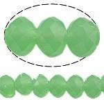10 x Briolette kraal 10 x 8mm gat 1,5mm opal groen
